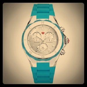 NWOT Michele Tahitian Jelly Watch - Dark Turquoise